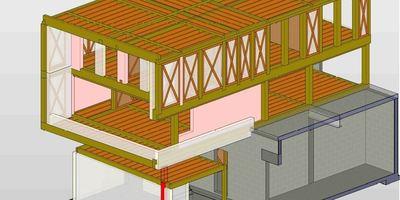 Constructions en bois - étude primaire en 3D-de